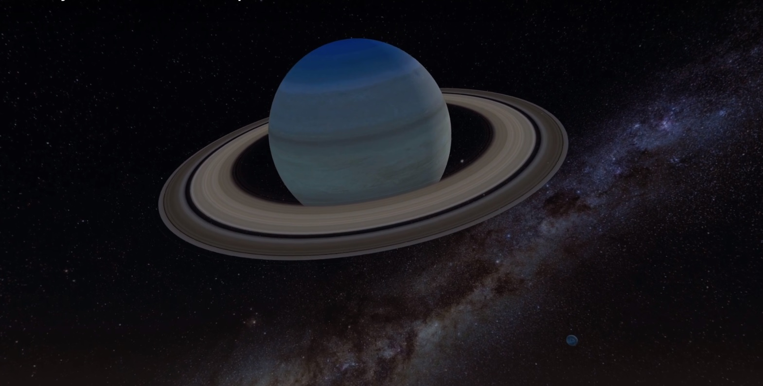 Saturn, Dione and the milky way